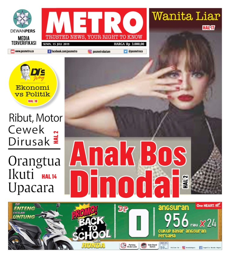 POSMETRO Digital Newspaper 15 July 2019
