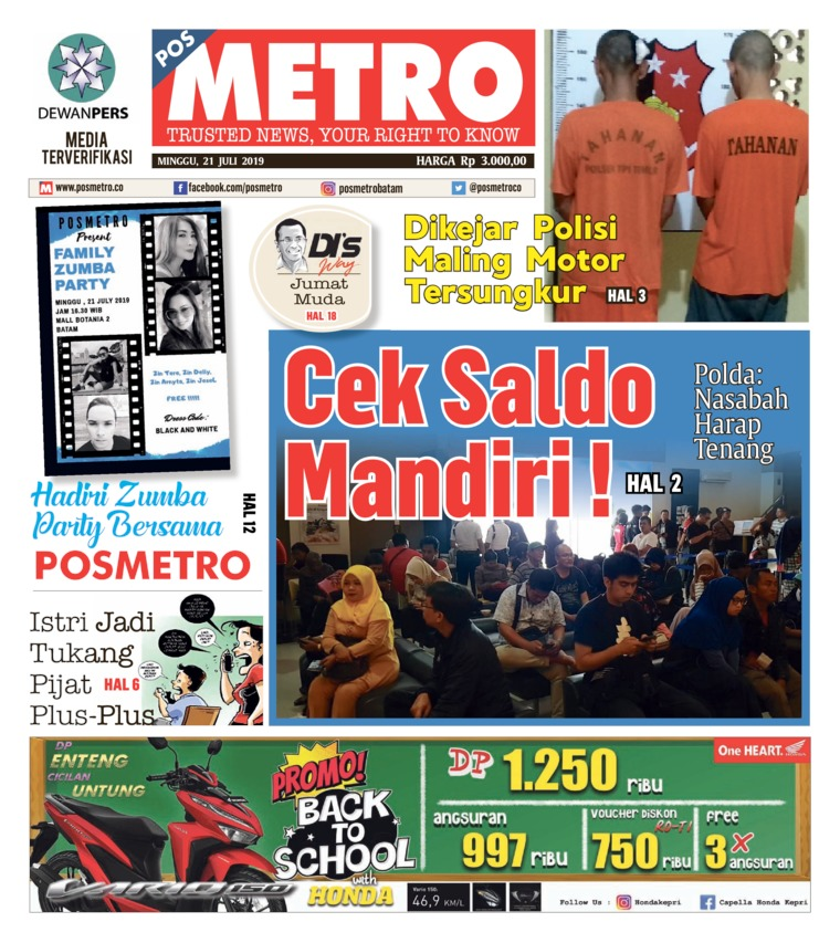POSMETRO Digital Newspaper 21 July 2019
