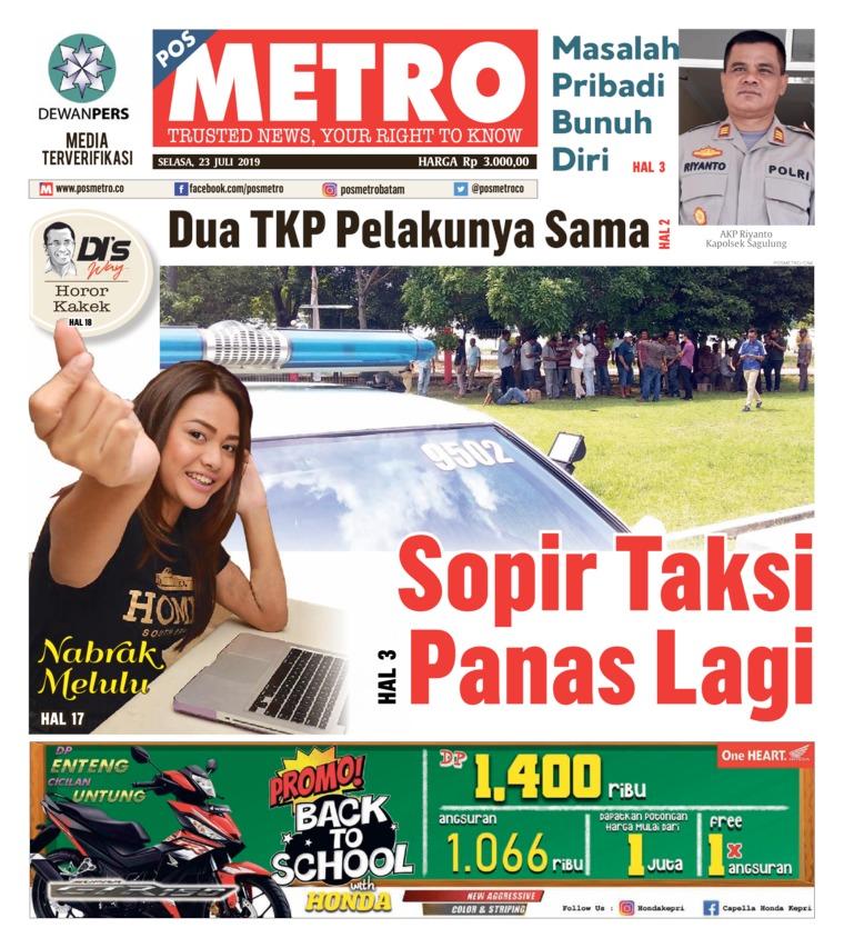 Koran Digital POSMETRO 23 Juli 2019