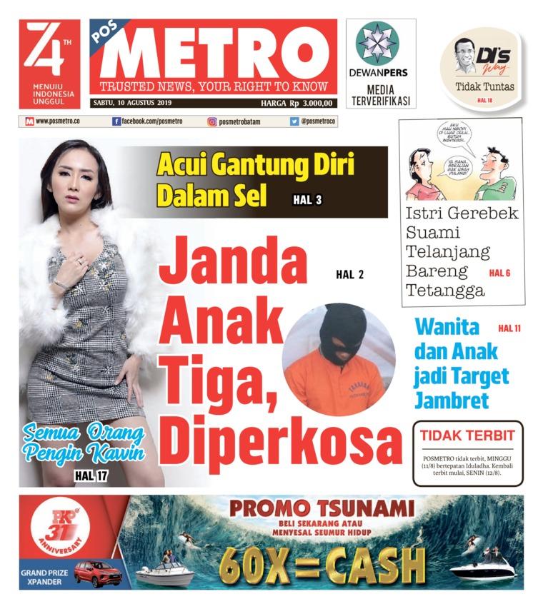 POSMETRO Digital Newspaper 10 August 2019