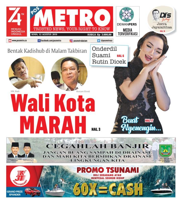 POSMETRO Digital Newspaper 12 August 2019