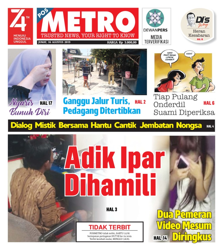 Koran Digital POSMETRO 16 Agustus 2019