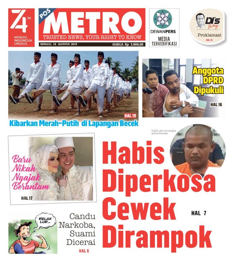 Koran Digital POSMETRO 18 Agustus 2019