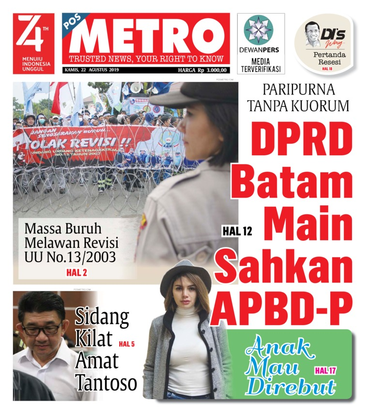 POSMETRO Digital Newspaper 22 August 2019