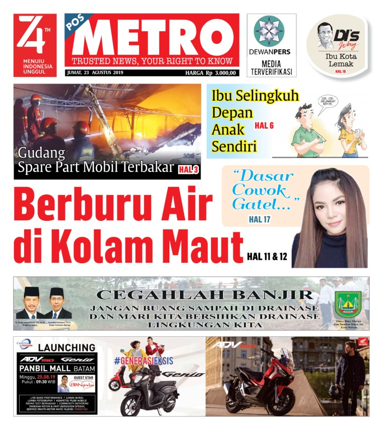 Koran Digital POSMETRO 23 Agustus 2019
