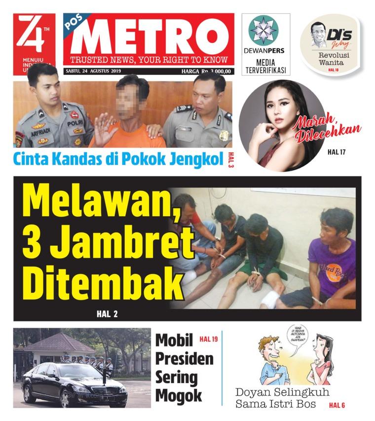 Koran Digital POSMETRO 24 Agustus 2019