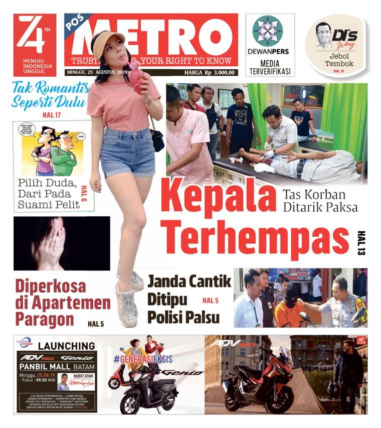POSMETRO Digital Newspaper 25 August 2019