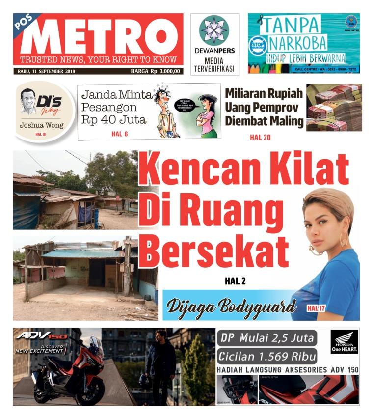 Koran Digital POSMETRO 11 September 2019