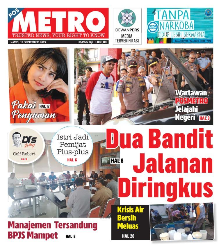 Koran Digital POSMETRO 12 September 2019
