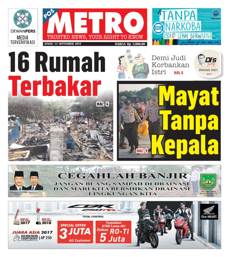POSMETRO Digital Newspaper 13 September 2019
