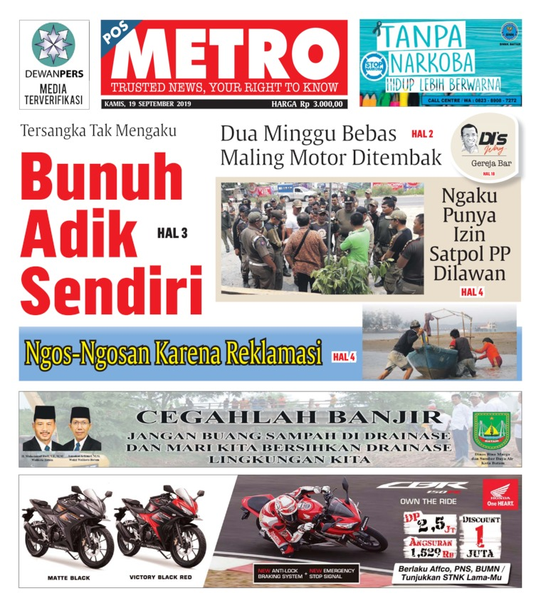 POSMETRO Digital Newspaper 19 September 2019