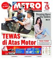Cover POSMETRO 16 Agustus 2018