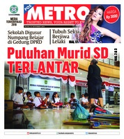 Cover POSMETRO 18 September 2018