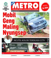 Cover POSMETRO 19 September 2018