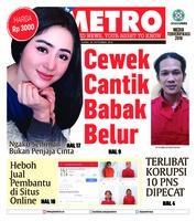 Cover POSMETRO 20 September 2018