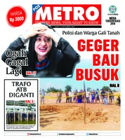 Cover POSMETRO 24 September 2018
