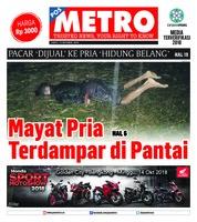 Cover POSMETRO 13 Oktober 2018