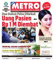 Cover POSMETRO 16 Oktober 2018