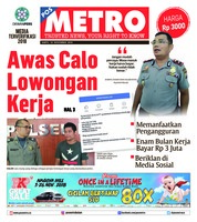 Cover POSMETRO 10 November 2018