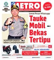 Cover POSMETRO 11 November 2018