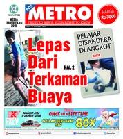 Cover POSMETRO 12 November 2018