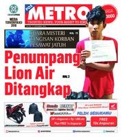 Cover POSMETRO 13 November 2018