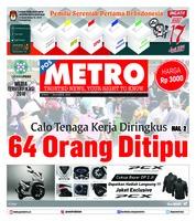 Cover POSMETRO 07 Desember 2018