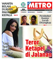 Cover POSMETRO 14 Januari 2019