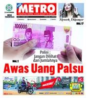 Cover POSMETRO 13 Maret 2019