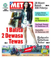 Cover POSMETRO 17 Maret 2019