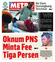Cover POSMETRO 20 Maret 2019