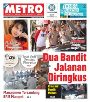 Cover POSMETRO 12 September 2019