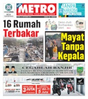 Cover POSMETRO 13 September 2019