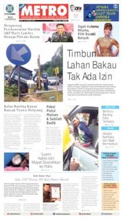 Cover POSMETRO 16 Oktober 2019