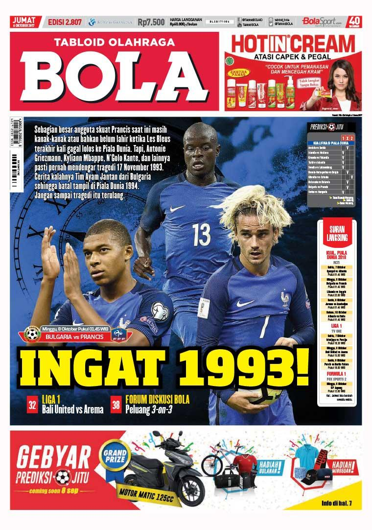 Majalah Digital Tabloid Bola Sabtu ED 2807 Oktober 2017