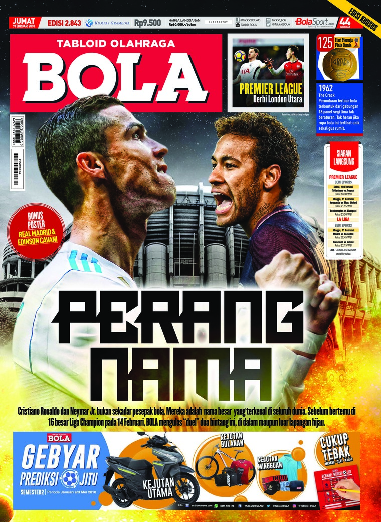 Majalah Digital Tabloid Bola Sabtu ED 2843 Februari 2018