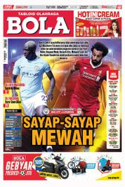 Cover Majalah Tabloid Bola Sabtu ED 2799 September 2017