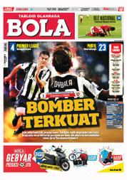 Cover Majalah Tabloid Bola Sabtu ED 2803 September 2017