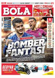 Cover Majalah Tabloid Bola Sabtu ED 2805 September 2017