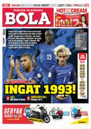 Cover Majalah Tabloid Bola Sabtu ED 2807 Oktober 2017