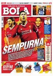 Cover Majalah Tabloid Bola Sabtu ED 2833 Januari 2018