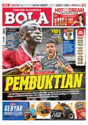 Cover Majalah Tabloid Bola Sabtu ED 2835 Januari 2018