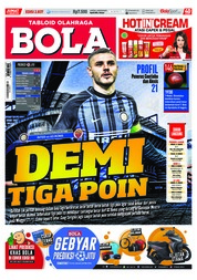 Cover Majalah Tabloid Bola Sabtu ED 2837 Januari 2018