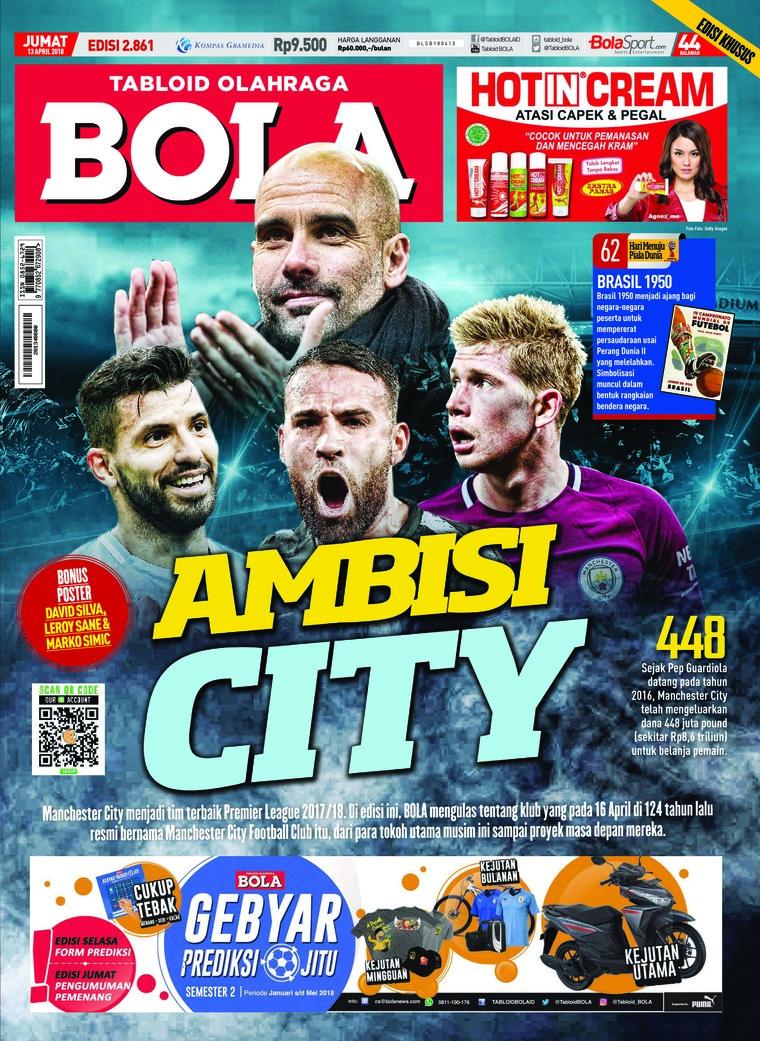 Majalah Digital Tabloid Bola Sabtu ED 2861 April 2018
