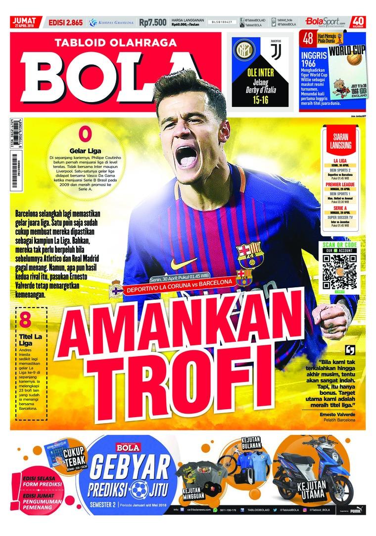 Tabloid Bola Sabtu Digital Magazine ED 2865 April 2018