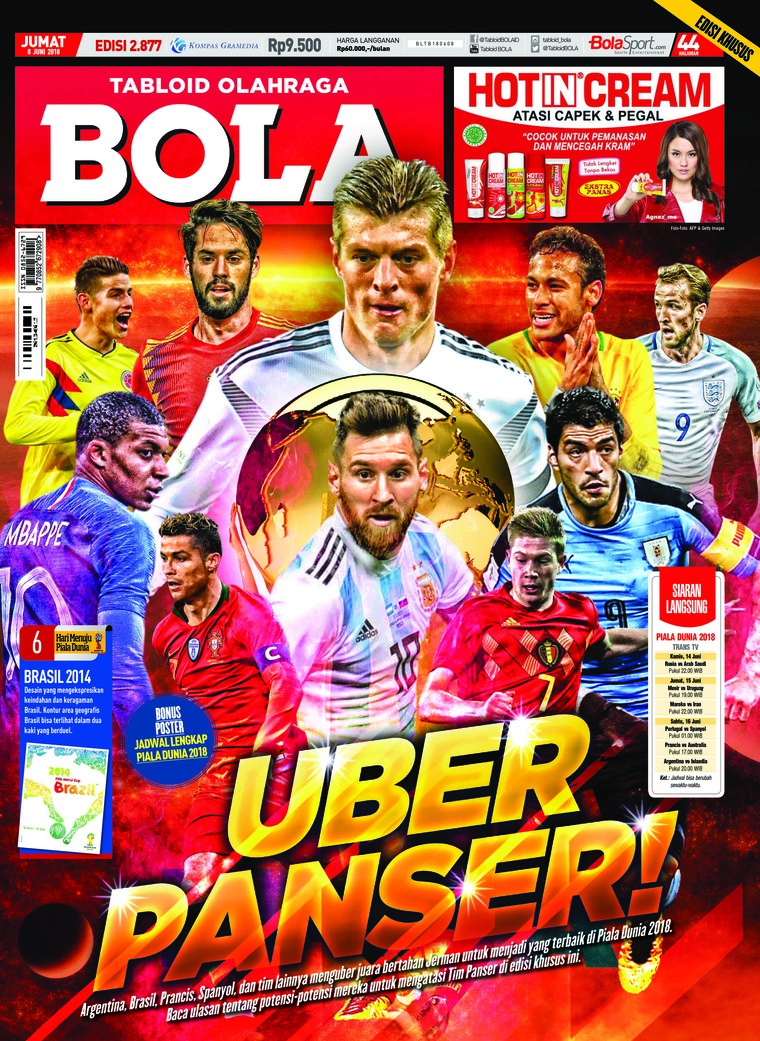 Majalah Digital Tabloid Bola Sabtu ED 2877 Juni 2018