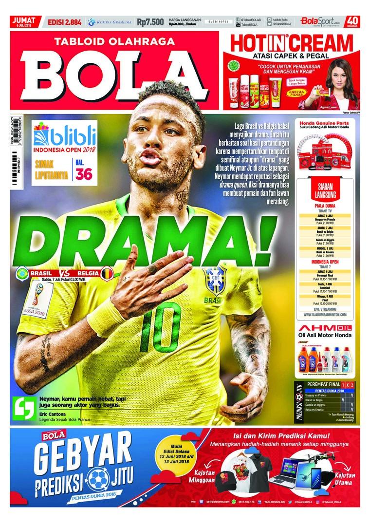 Majalah Digital Tabloid Bola Sabtu ED 2884 Juli 2018