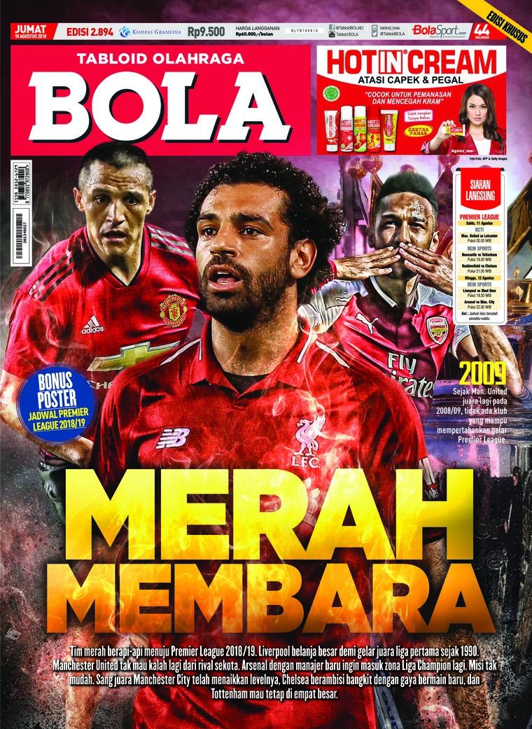 Majalah Digital Tabloid Bola Sabtu ED 2894 Agustus 2018