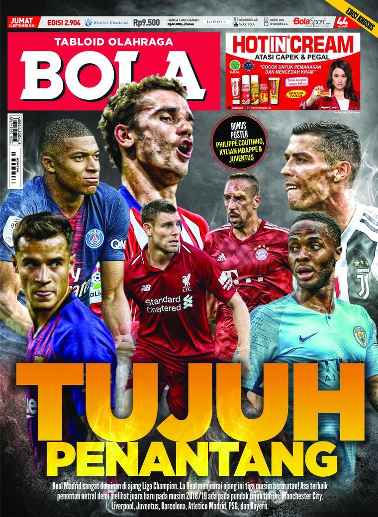 Majalah Digital Tabloid Bola Sabtu ED 2904 September 2018