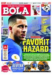 Cover Majalah Tabloid Bola Sabtu ED 2857 Maret 2018